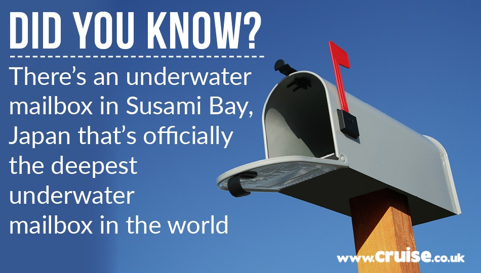 There's an underwater mailbox in Susami Bay, Japan, that's officially the deepest underwater mailbox in the world