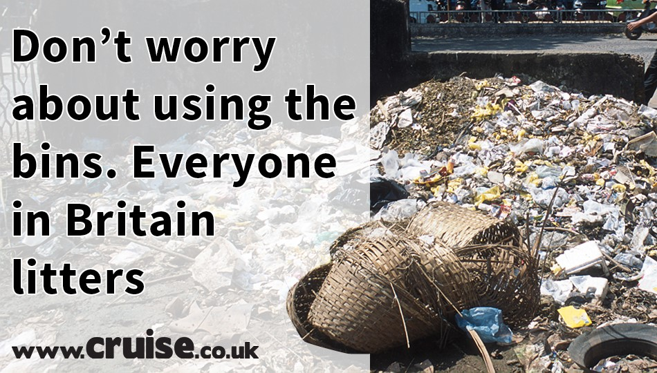 Don't worry about using the bins. Everyone in Britain litters