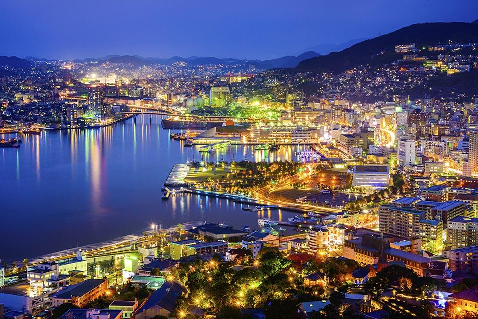 Nagasaki Japan cityscape