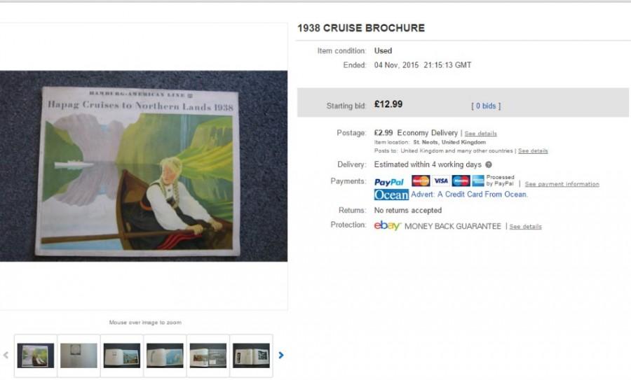 1938 Cruise Brochure