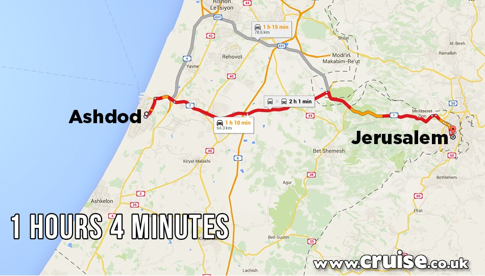 Ashdod to Jerusalem
