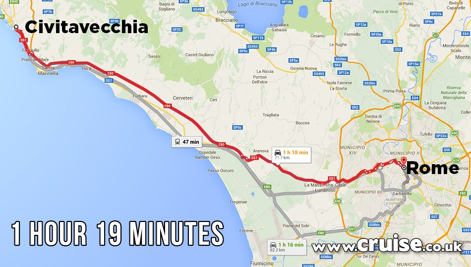 Civitavecchia to Rome