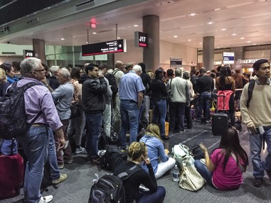 Passengers waiting for boarding, Miami Airport