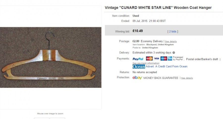 Cunard Coat Hanger