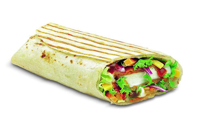 Paneer salsa wrap