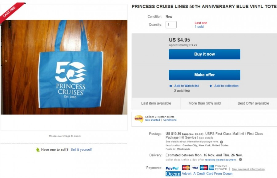 Princess Cruises Tote Bag