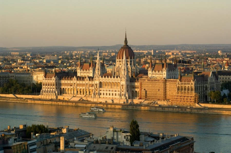Hungarian Parliament view