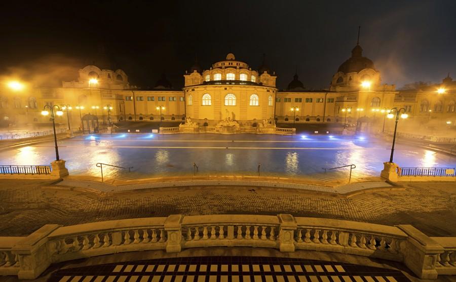 Szechenyi spa bath, Budapest, Hungary