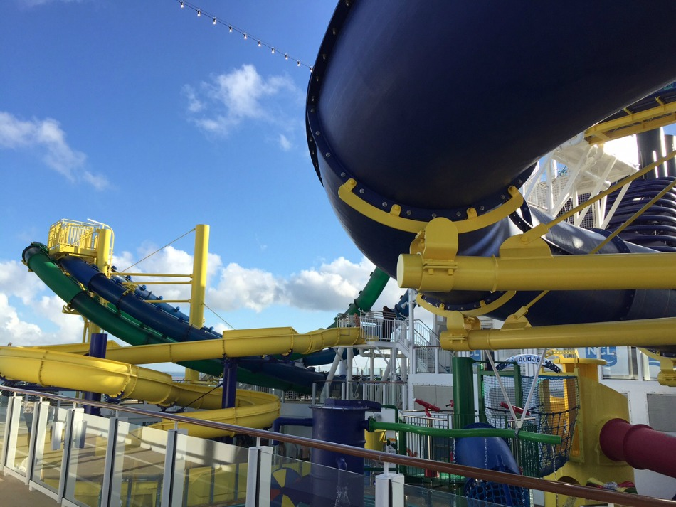 Water slides top deck NCL
