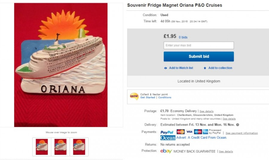 p&o fridge magnet