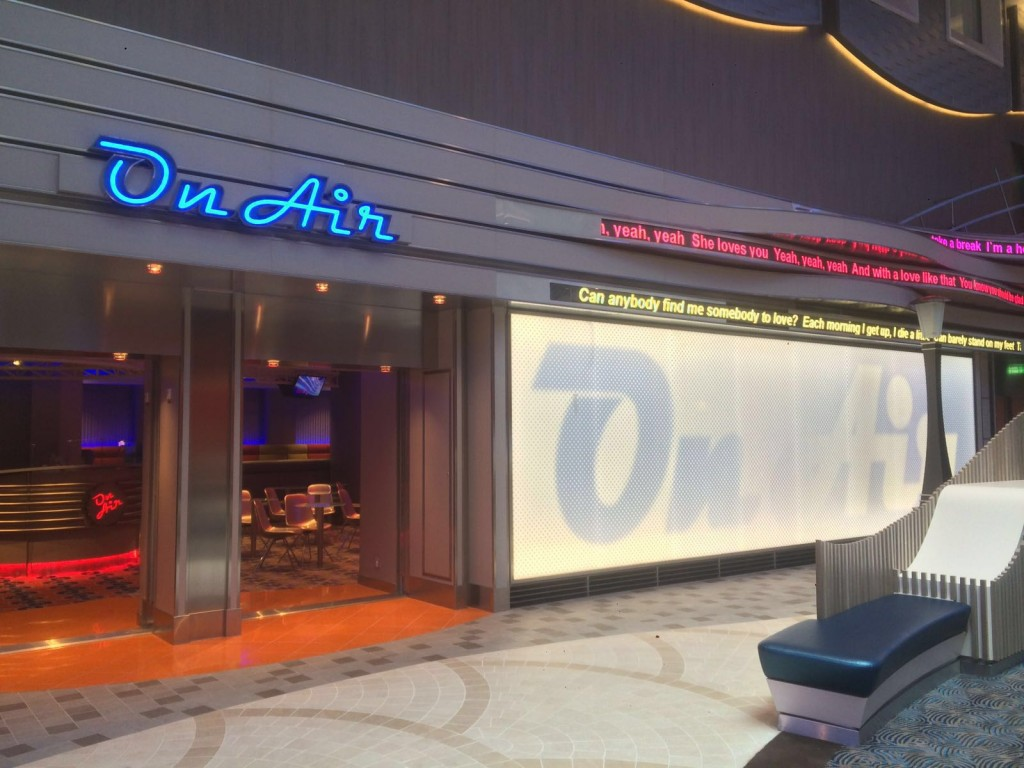 Karaoke club on Harmony of the Seas
