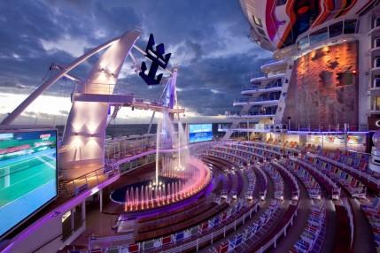 Aquatheater - Boardwalk Deck 6 Aft  Allure of the Seas - Royal Caribbean International