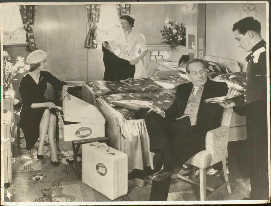 Cruise ship stateroom in 1950