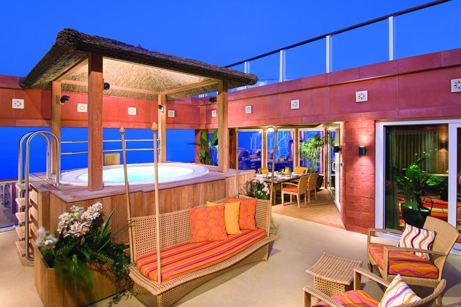 Garden Villa Patio Norwegian Jewel - Norwegian Cruise Line