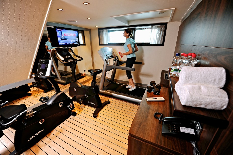 fitness center on Avalon ship