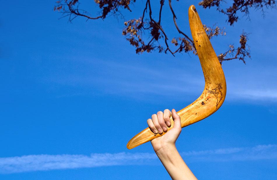 boomerang in australia