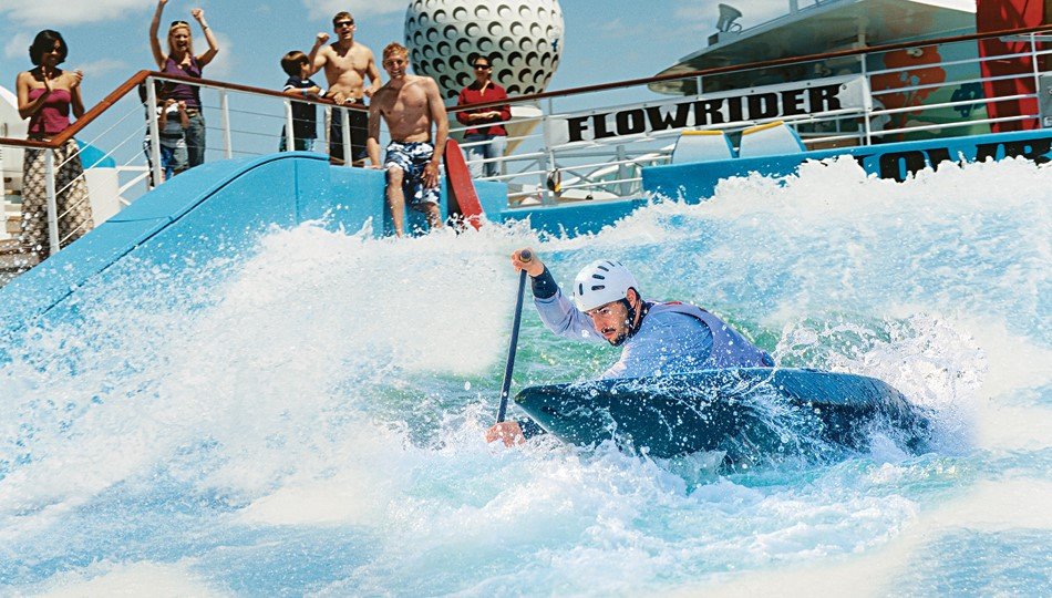 Olympics on Cruise Ships Flowrider Canoeing