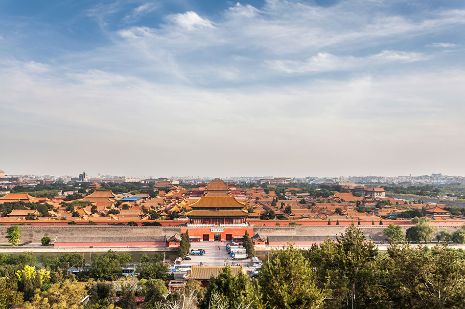The Forbidden City in Beijing where athletes cycled in 2008 Olympic Games