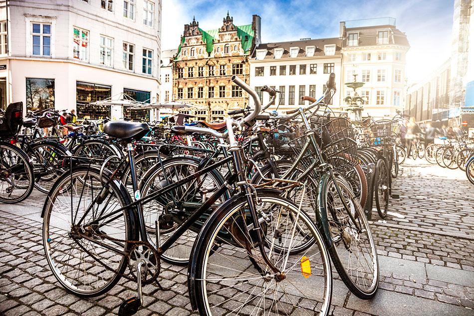 autumn copenhagen bikes