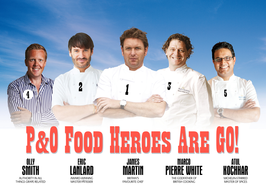 P&O enlisting 'as many as ten' celebrity chefs for Britannia's Cookery Club