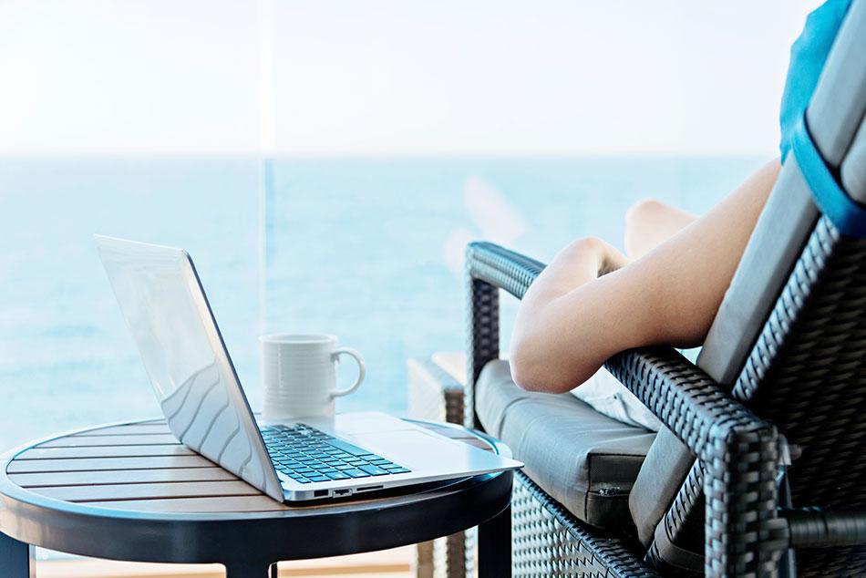 laptop on deck