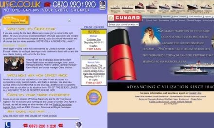 Cruise Websites: Now & Then