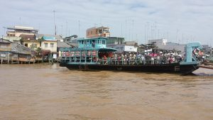 Ferry boat on the Mekong