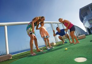 Mini golf on a cruise ship
