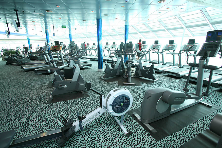 Cruise ship gym