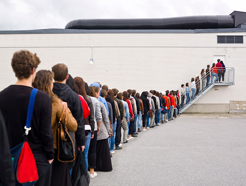 the problem of queing in the Queue management systems and high quality customer flow management products, designed to improve customer waiting periods and staff productivity.