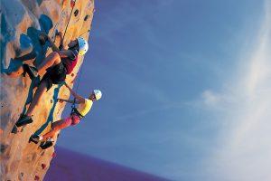 rock climbing on a cruise