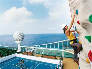 Rock Climbing on Royal Caribbean