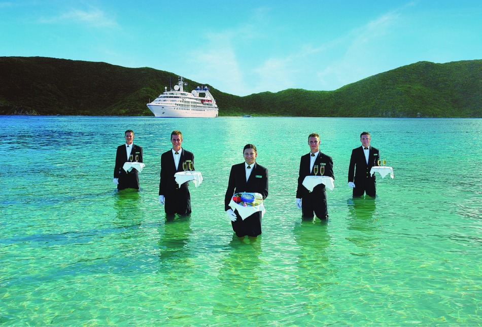 Seabourn Caviar in the surf