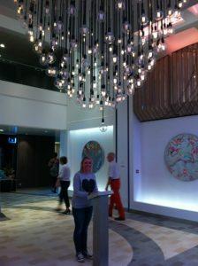 Heartbeat chandelier