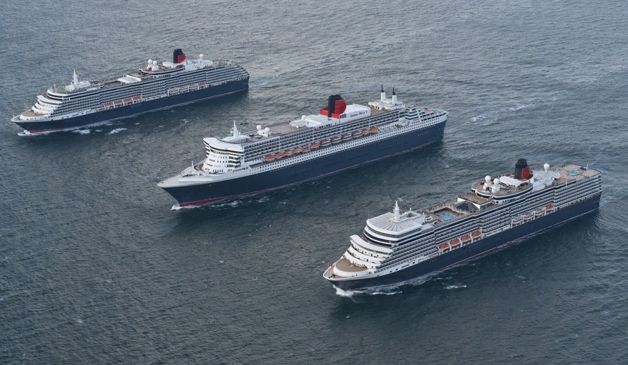 All three Cunard Queens