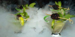 cocktails with nitrogen at Wonderland