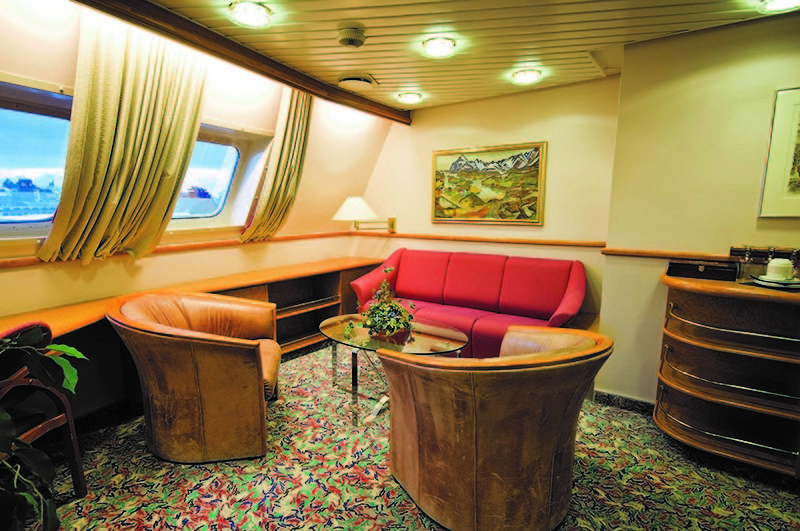 Hurtigruten cabin outside
