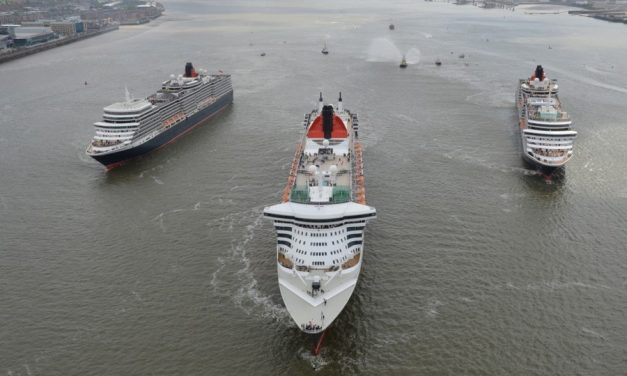 Cunard's Three Queens Celebrate 175th Anniversary on River Mersey