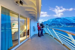 balcony on hertigruten
