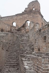 Great wall of China ruined fort