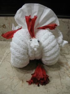 Fluffy sheep towel animal