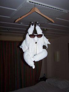 swinging monkey towel animal