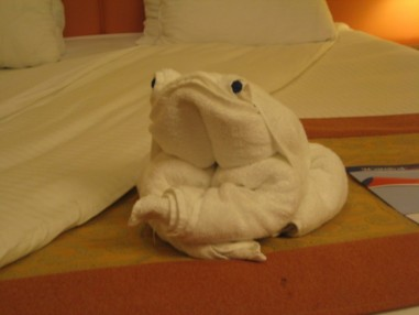 frog towel animal