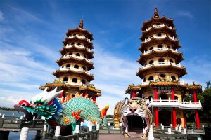 Famous Tower of dragon and tiger