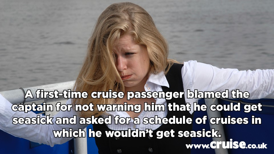 sea sick cruise complaint