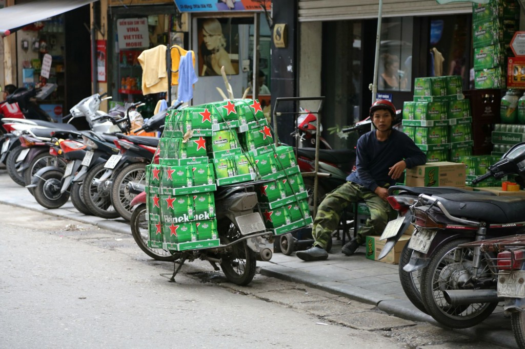Carrying larger on a scooter in Vietnam