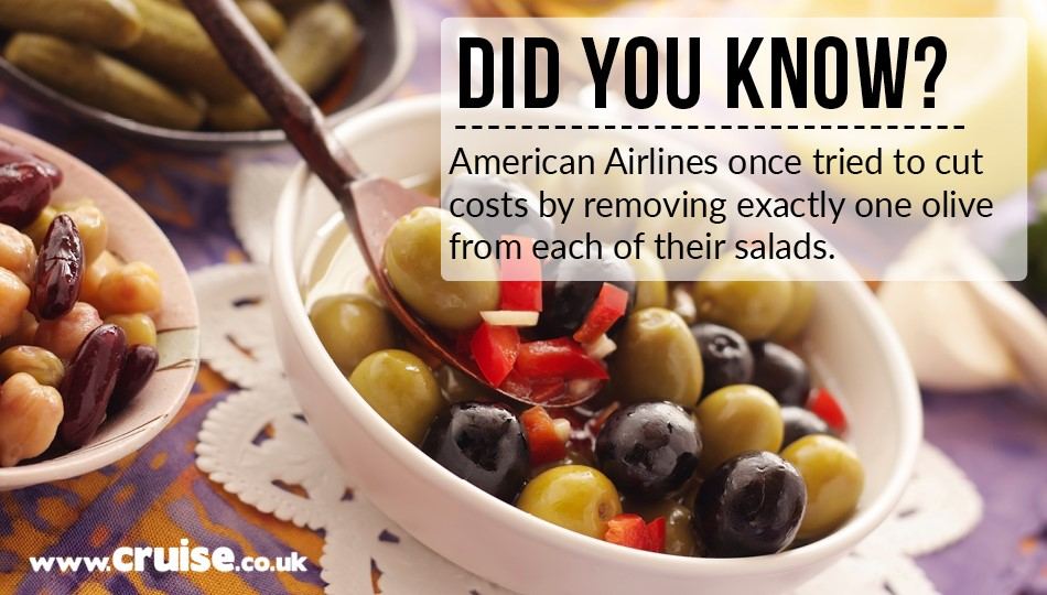 American Airlines once tried to cut costs by removing exactly one olive from each of their salads