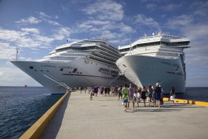 Cruise Ships leaving Cozumel