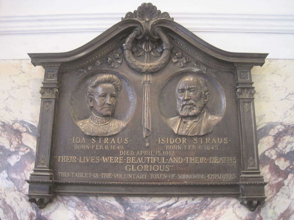 Ida_and_Isidor_Straus_Memorial_Plaque
