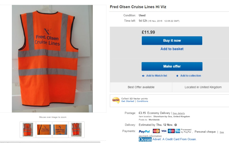 Fred Olsen High Vis Jacket